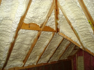 Spray Foam in an Attic foam insulation